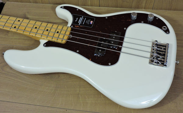 Fender American Professional II Precision Bass, Olympic White, Maple Neck