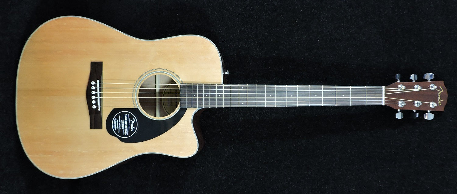 Fender CD-60 CE Electro Acoustic Guitar Natural