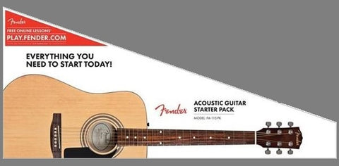 FA-115 Dreadnought Acoustic Guitar Pack Natural