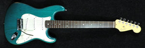 Fender USA Deluxe Stratocaster Transparent Teal Green 1999 MINT - Used