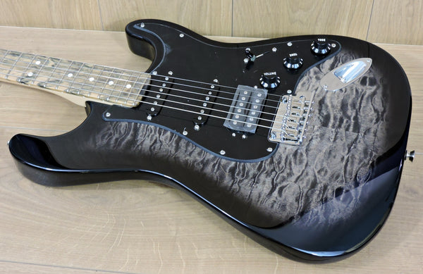 Fender USA FSR Ltd. Edition Stratocaster HSS Quilted Maple Top Pale Moon Ebony neck