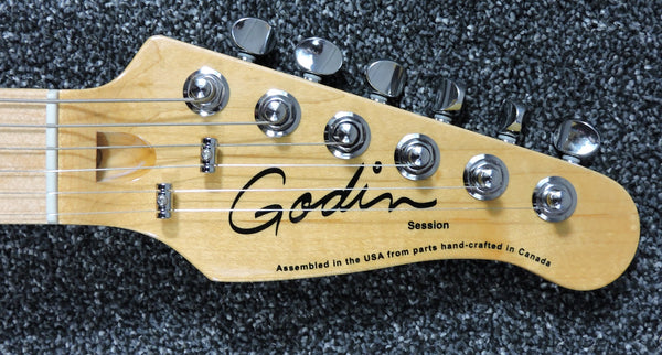 Godin Session Satin Finish Sunburst 'S' style Assembled in USA