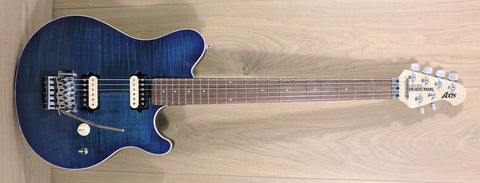 Musicman AXIS. Balboa Blue Burst Flame