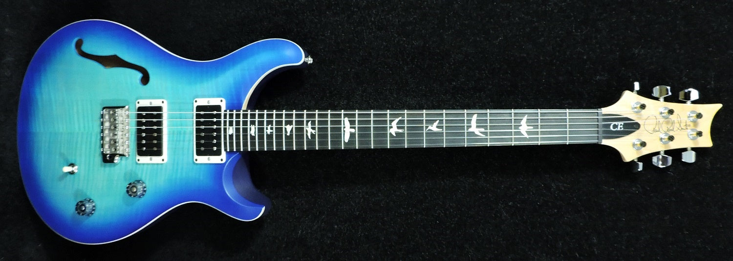 PRS CE Semi Hollow Makena Blue Satin Custom Colour Ebony Fingerboard