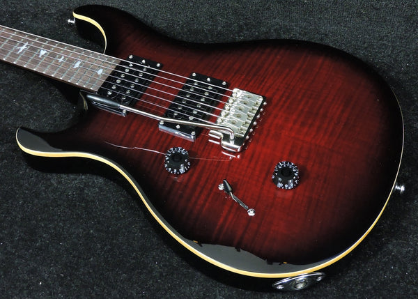 PRS SE Custom 24 Left Handed Fire Red Burst