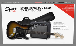 Squier Affinity Series Stratocaster HSS Pack. Brown Sunburst
