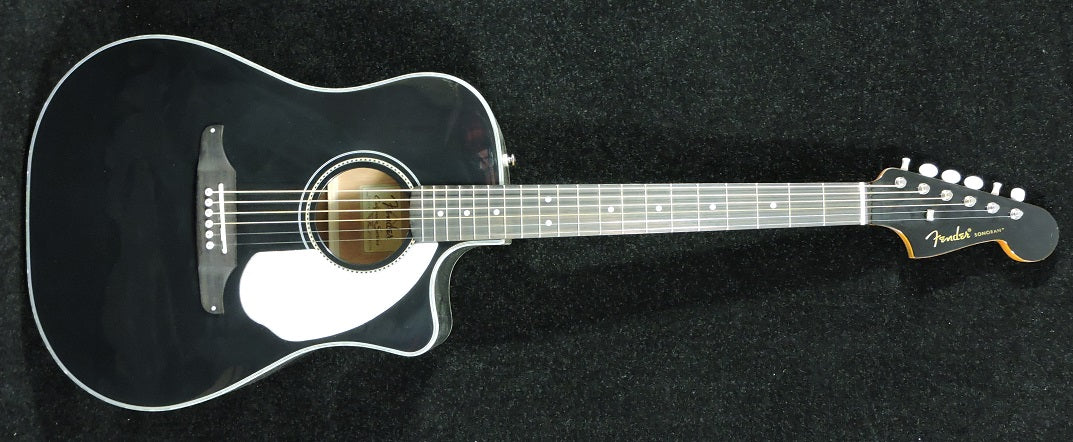 Fender Sonoran SCE Electro Acoustic Guitar Black