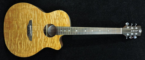 Luna Gypsy Quilt - Ash Gloss Natural Electro Acoustic Guitar