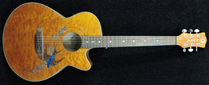 Luna Fauna Swift Quilted Maple - Trans Toffee Electtro Acoustic Guitar