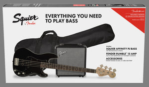 Squier Affinity Series™ Precision Bass® PJ Pack Black