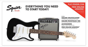 Squier Strat® SS Pack (Short-Scale) Black