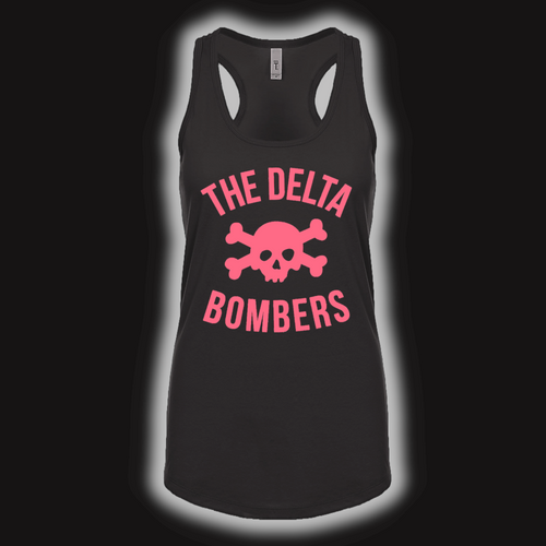 T-Shirt: Women's Pink Skull Tank Top