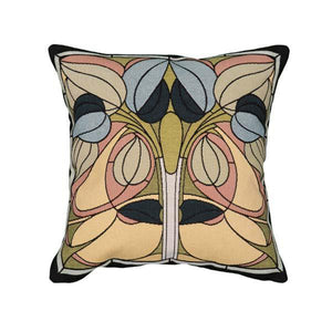 Floral Art Glass Pillow