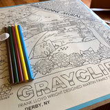 Graycliff Minne Mural Coloring Poster