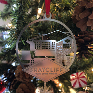 Graycliff Steel House Ornament