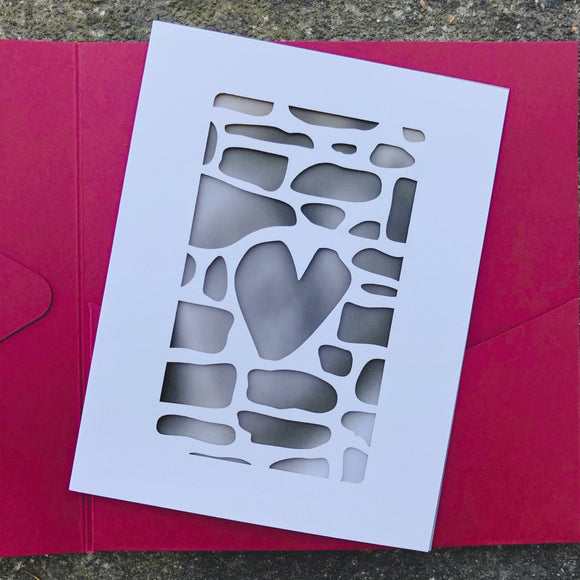 Graycliff Laser Cut Heart Stone Note Card Gift