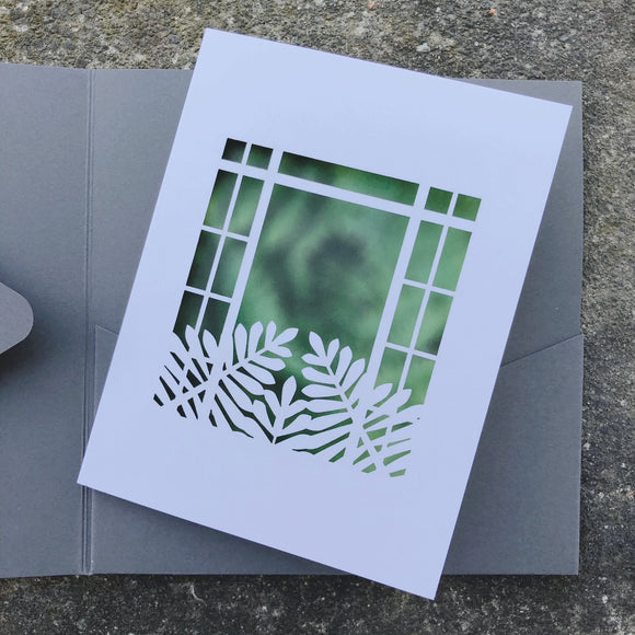 Graycliff Laser Cut View Room Note Card Gift
