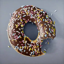 Load image into Gallery viewer, Chocolate donut with sprinkles