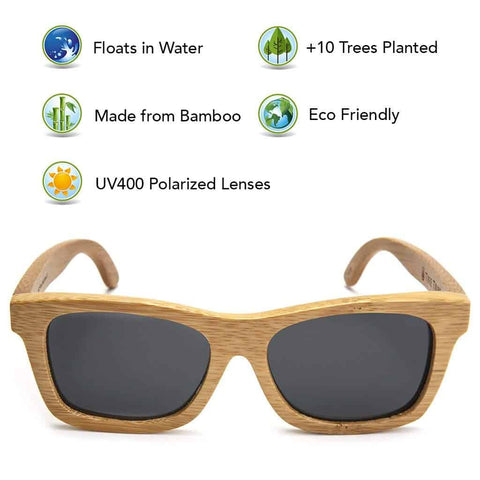 Duesgo.com  Bamboo Wood Sunglasses with Polarized Lenses and Handmade Frames Natural Style for Men and Women_ Clothing