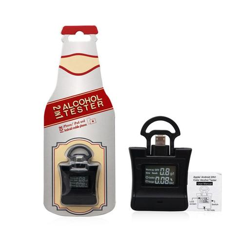 duesgo- Digital LCD Alcotester Breath Breathalyzer - Mini Alcohol Tester Detector for Smartphones- package contents