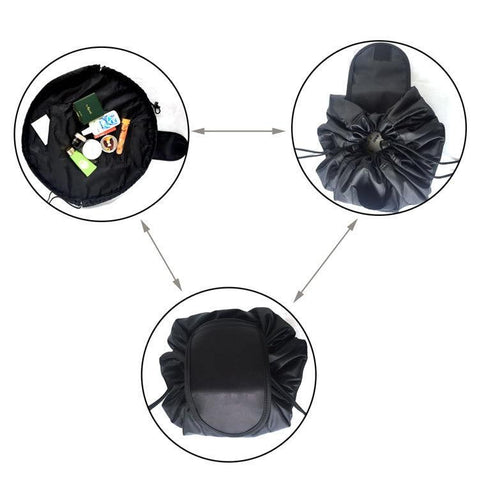 duesgo.com-Lazy Drawstring Cosmetic Travel Pouch-explaination of functionality