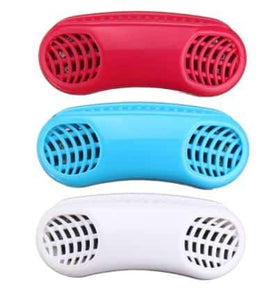 duesgo- red white blue Silicone Nose Clip,Snore Reduction Vents Maximize Airflow  Air Purifying Respirator Relieves Stuffy Nose