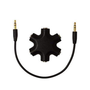 Duesgo Black / 1pcs 5 IN 1  Earphone Splitter