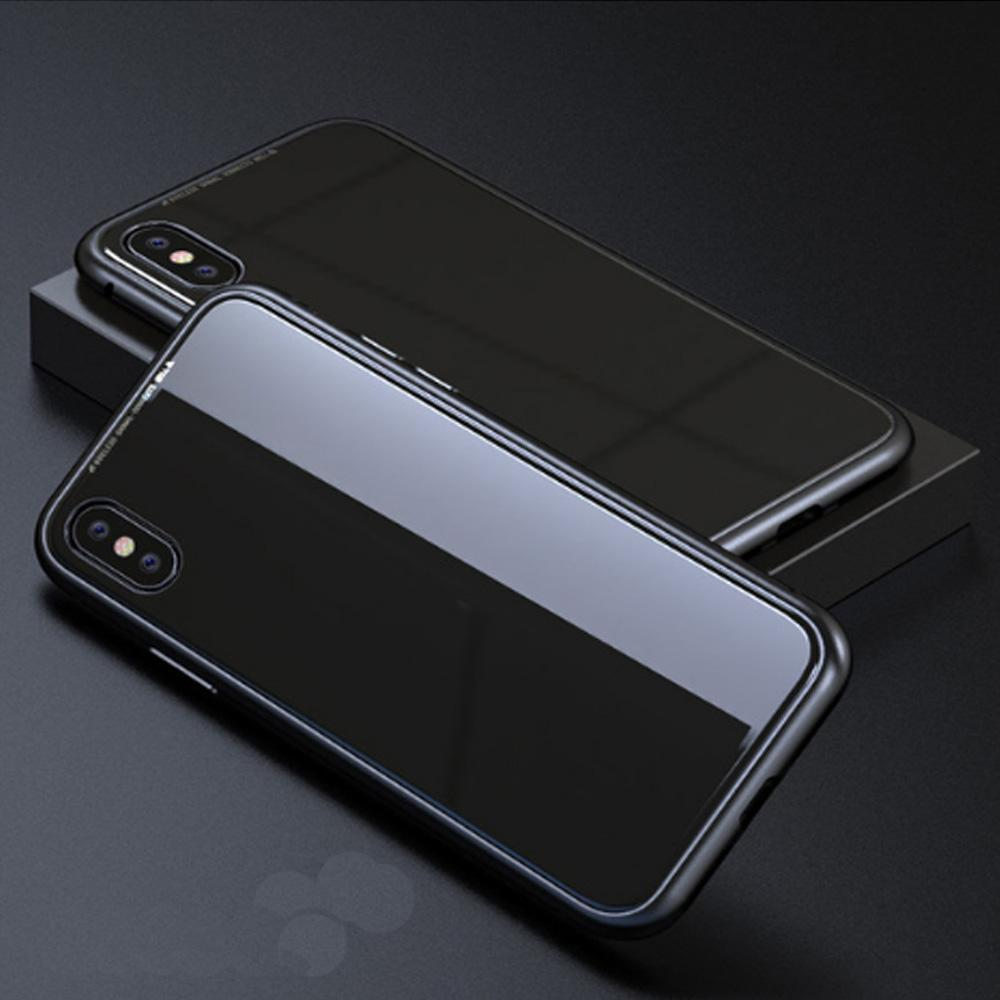 Duesgo Black / For iPhone X Ultra Magnetic Adsorption iPhone Case