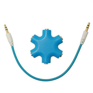 Duesgo Blue / 1pcs 5 IN 1  Earphone Splitter