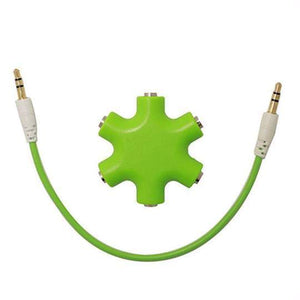 Duesgo Green / 1pcs 5 IN 1  Earphone Splitter