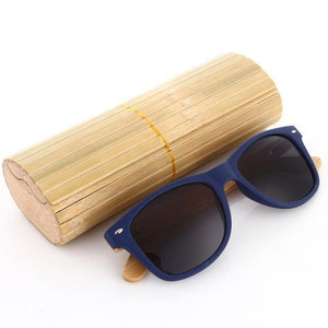 Duesgo PC+Bamboo Leg/Black Bamboo Sunglasses