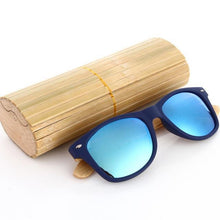 Duesgo PC+Bamboo Leg/Blues Bamboo Sunglasses