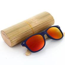 Duesgo PC+Bamboo Leg/Red Bamboo Sunglasses