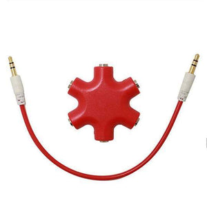 Duesgo Red / 1pcs 5 IN 1  Earphone Splitter