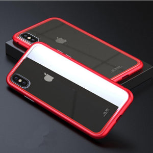Duesgo Red-Clear / For iPhone X Ultra Magnetic Adsorption iPhone Case