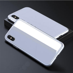Duesgo Silver / For iPhone X Ultra Magnetic Adsorption iPhone Case