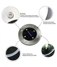 Duesgo Waterproof Solar Powered LED Disk Lights