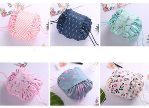 duesgo.com-Lazy Drawstring Cosmetic Travel Pouch-6 options