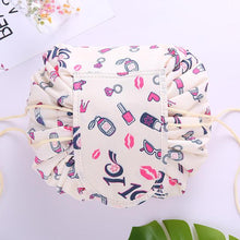 duesgo.com-Lazy Drawstring Cosmetic Travel Pouch-with beauty creatures