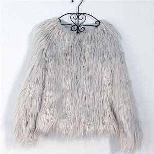 Afghan Fur Collarless Coat