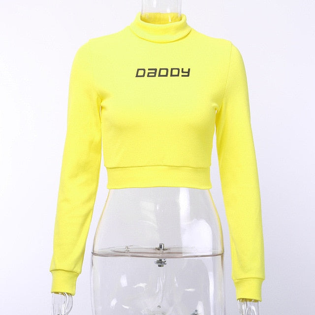 Neon Daddy Crop Turtlnek