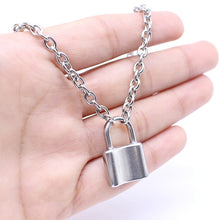 Silver PadLock Pendant Necklace