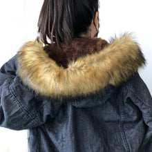 Fur Hooded Winter Denim Jacket
