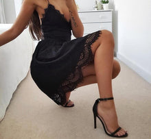 Backless Spaghetti Strap Sexy Lace Dress