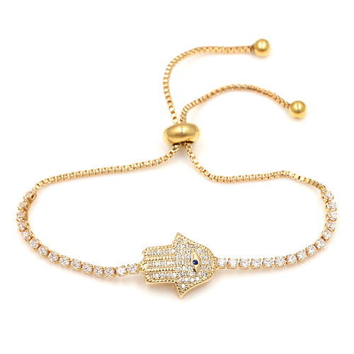 Hand of God Clear Crystal Pave Bracelets