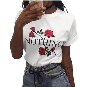 Red Rose NOTHING T Shirt