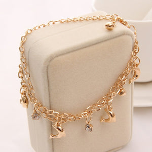 Multilayer Heart Butterfly Charm Bracelets