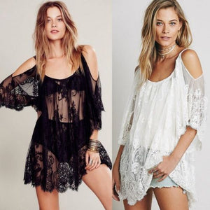 Lace Crochet Bikini Cover Up
