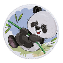 Panda Round Beach Towel