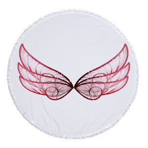 Pretty Wings Round Beach Towel